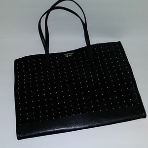 Victoria's Secret Black Velvet Tote